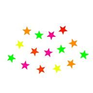 Stern Girlande Deckenhänger Banner mit Sternen Geburtstag Party Einschulung Deko - neonfarben bunt