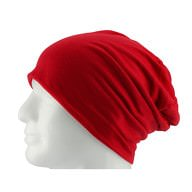 Long Beanie XXL Mütze Slouch Damen Herren Kinder Mütze - chrimson red