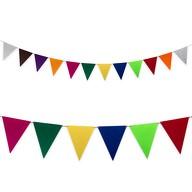 Wimpel Girlande Banner aus Filz Wimpelkette Feier Party Deko - Farbmix