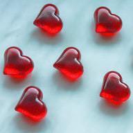 Rote Kristallherzen Kristalle Streuteile Dekosteine Liebe Hochzeit