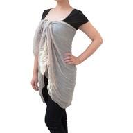 Tuch Schal Chiffon Stola Fashion Outfit Damen Tücher - beige