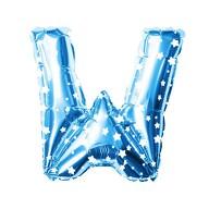 Folien Luftballon Buchstabe W Kinder Geburtstag Baby Shower Party Deko Ballon - blau