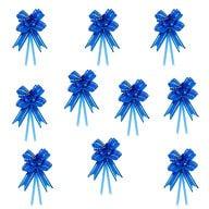 10 Geschenkschleifen mit Geschenkbändern Deko Schleifen - blau