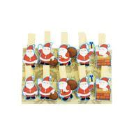 10 Mini Wäscheklammern Holz Miniklammern Deko Klammern - Weihnachtsmänner