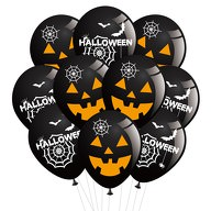 10x Luftballons für Halloween gruselige Horror Deko Ballons versch. Motive Feier Party Dekoration