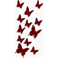 3D Schmetterlinge 12er Set Wandtattoo Wandsticker Wanddeko - braun