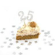 2x Torten Topper Kuchen Aufsatz 25 Geburtstag Jubliäum Kuchen Deko