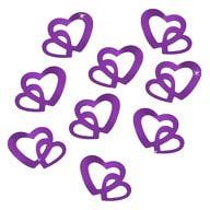 Herz Konfetti Tischdeko Liebe Romantik Hochzeitsdeko - lila