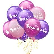 10x Luftballons Schuleinführung Einschulung Schulanfang Deko Schulkind und Stern Motive - Farbmix