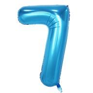 1x Folien Luftballon mit Zahl 7 Kinder Geburtstag Jubiläum Party Deko Ballon blau
