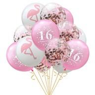 Happy Birthday Konfetti Luftballon Set Zahl 16 Geburtstag 15 Ballons