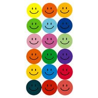 180 Smiley Sticker Aufkleber Lächeln Emoji Smily Face Faces - bunt