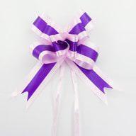 10 Geschenkschleifen mit Geschenkbändern Deko Schleifen - lila