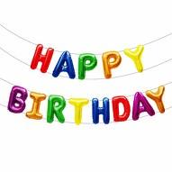 Happy Birthday Folienballon Girlande in bunt Geburtstag Kindergeburtstag Party Deko