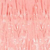 Lametta Vorhang für Weihnachten Silvester Geburtstag Deko Party Fasching Karneval rosa pastellfarben