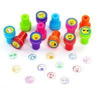 12 Kinder Stempel Smiley Stempelset Selbstfärbend kreativ