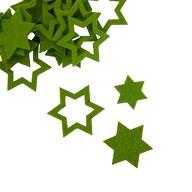 24 Filz Sterne Weihnachtsdeko Tischdeko Weihnachten 3 Motive - grün