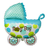 Folien Luftballon in Kinderwagen Form Baby Boy Folienballon für Baby Shower Party Geburt Jungs