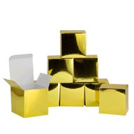 8 Pappschachteln für DIY Adventskalender Advent Kisten Boxen - gold
