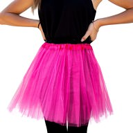Tutu Tütü Damen Rock pink Tüllrock Unterrock Kostüm Accessoire Fasching Karneval 60 cm - 116 cm