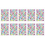 790x Sterne Sticker Stern Aufkleber Holo Effekt glitzernd zum Basteln Scrapbooking Dekoration - bunt