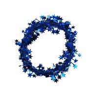 Folien Girlande Stern Lametta Hängedeko Tisch Deko Geburtstag Weihnachten Silvester Party - blau