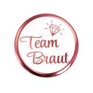 Button JGA Junggesellinnenabschied Anstecker Roségold - 1x Team Braut