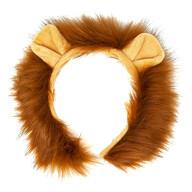 Haarreifen Löwe mit Ohren und Mähne Löwen Haarreif mit Haaren Fasching Karneval Party Löwen Kostüm