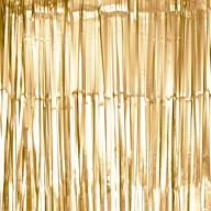 Lametta Vorhang für Weihnachten Silvester Geburtstag Deko Party Fasching Karneval - matt bronze