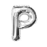 Folien Luftballon Buchstabe P Geburtstag Silber Hochzeit Party Deko Ballon - silber