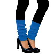 Damen Stulpen Strümpfe 80er Jahre Party Fasching Karneval Aerobic Kostüm Accessoires - neon blau