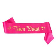 Schärpe Team Braut JGA Junggesellinnenabschied Hen Party pink gold