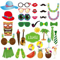 35 Fotorequisiten Fotoaccessoires Sommer Hawaii Party Photo Booth