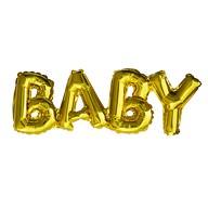 Folien Luftballon Baby Schriftzug Folienballon für Baby Shower Party Geburt Mädchen Junge - gold