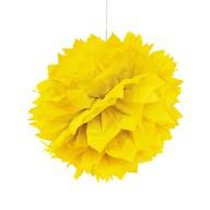 3 PomPoms Pompons Seidenpapier Hochzeit Geburtstag Party Deko - gelb