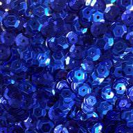 1400 Pailletten Konfetti gewölbt - dunkelblau