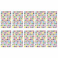 700x Buchstaben Sticker Alphabet ABC Aufkleber Holo Effekt für Schuleinführung zum Basteln - bunt
