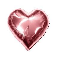 Folien Luftballon Herz Form Hochzeit JGA Hen Party Geburtstag Party - roségold