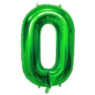 1x Folien Luftballon mit Zahl 0 Kinder Geburtstag Jubiläum Silvester Party Deko Ballon grün