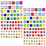 180 Viereck Quadrat Sticker Aufkleber Verzierung selbstklebende Steine