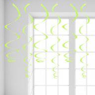 12 Wirbel Deckenhänger Girlande mit Bänder und Ösen - grün