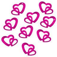 Herz Konfetti Tischdeko Liebe Romantik Hochzeitsdeko Scrapbook - pink