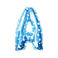 Folien Luftballon Buchstabe A Kinder Geburtstag Baby Shower Party Deko Ballon - blau