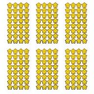 192 Sterne Smiley Sticker Stern Smily Aufkleber für Geschenke Karten zum Basteln Spielen - gelb gold