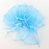 Organzasäckchen Organzabeutel Schmuckbeutel Säckchen Organza babyblau