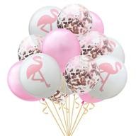 Flamingo Konfetti Luftballon Set 15 Stk Kinder Geburtstag JGA Ballons rosa weiß
