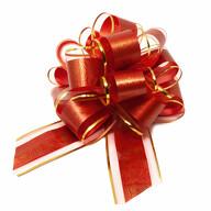 Geschenkschleife Deko Schleife für Geschenke Tüten Zuckertüte Weihnachten Geschenkdeko - rot gold