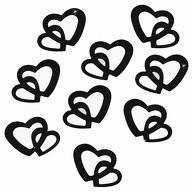 Herz Konfetti Tischdeko Hochzeitsdeko Liebe Romantik - schwarz