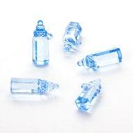 10 Mini Fläschchen blau Baby Dekoration Taufe
