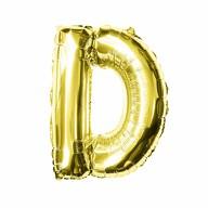 Folien Luftballon Buchstabe D Geburtstag goldene Hochzeit Party Deko Ballon - gold
